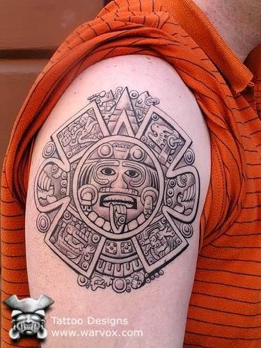 fd50a9aa92014 Aztec calendar Tattoo - ₪ AZTEC TATTOOS ₪ Aztec Mayan Inca Tattoo ...