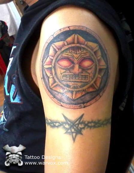kinich ahau tattoo aztec tattoos aztec mayan inca tattoo designs instant download. Black Bedroom Furniture Sets. Home Design Ideas