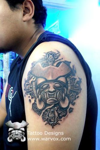 d27625cde Jaguar Teeth Tattoo - ₪ AZTEC TATTOOS ₪ Aztec Mayan Inca Tattoo ...