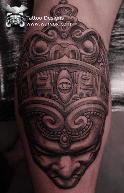 Emperor tattoo aztec tattoos aztec mayan inca tattoo for Peruvian tattoos designs
