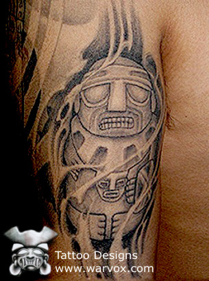 stone totem tattoo aztec tattoos aztec mayan inca tattoo designs instant download. Black Bedroom Furniture Sets. Home Design Ideas