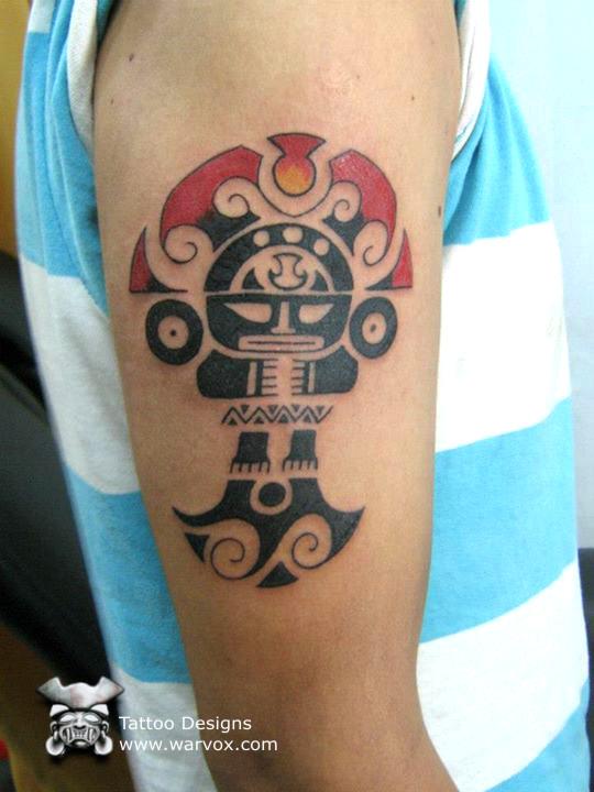 Tribal tattoo tumi aztec tattoos aztec mayan inca for Peruvian tattoos designs