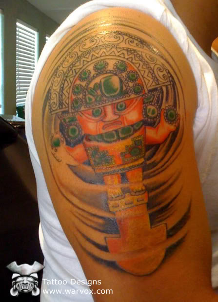 swirled tumi tattoo aztec tattoos aztec mayan inca tattoo designs instant download. Black Bedroom Furniture Sets. Home Design Ideas