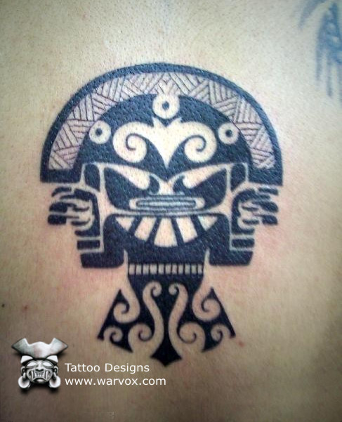 tumi tribal tattoo aztec tattoos aztec mayan inca tattoo designs instant download. Black Bedroom Furniture Sets. Home Design Ideas